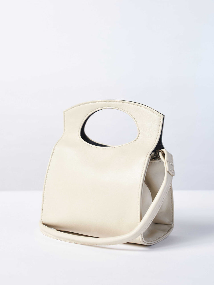 Mini Party Crossbody- Pearl White