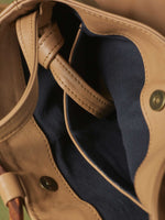 Leather-Tote and Crossbody-Handbag-Cappucino-Bag-by-PaytonJames-Nashville-designer closeup of inside of bag