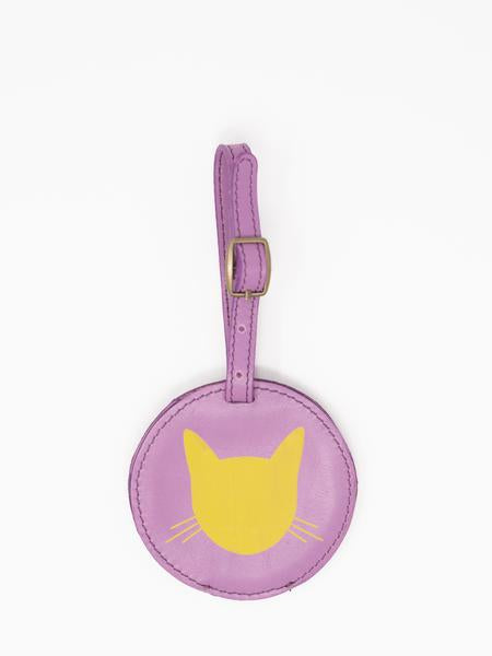 Cat Luggage Tags- Lavender Leather luggage tags by payton james