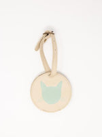 Cat Luggage Tags-Mint + White Leather luggage tags by payton james