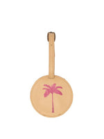 Palm Tree Luggage Tags- Pink Leather luggage tags by payton james