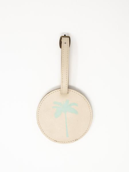Palm Tree Luggage Tags- Summer white Leather luggage tags by payton james
