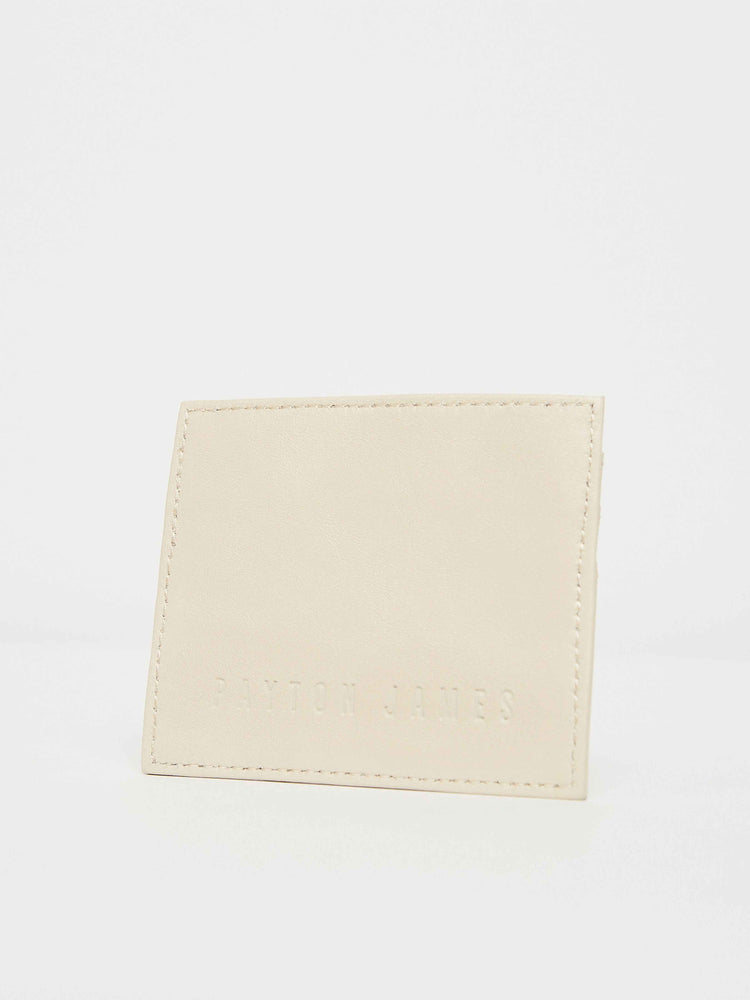 White leather card Case Holder Payton James