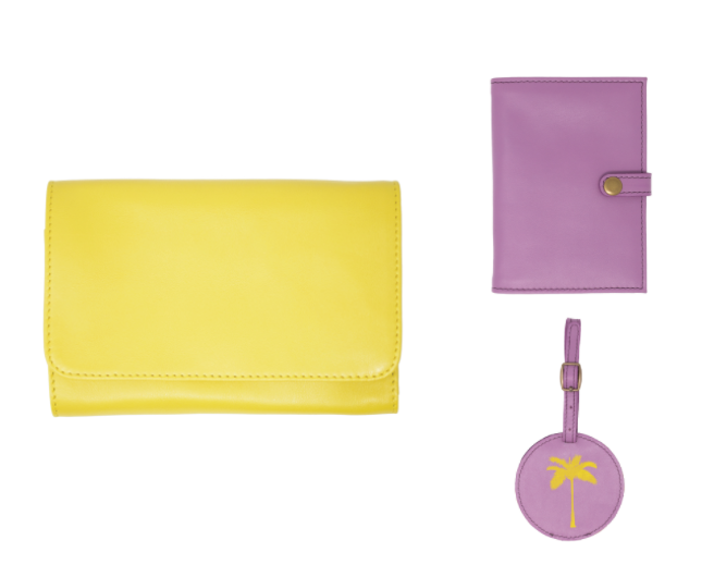 Lemon Travel Wallet Crossbody Holiday Bundle