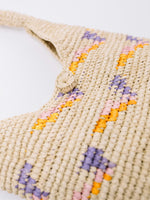 Straw Hobo Bag- close up of material- by Payton James Nashville Handbag designer