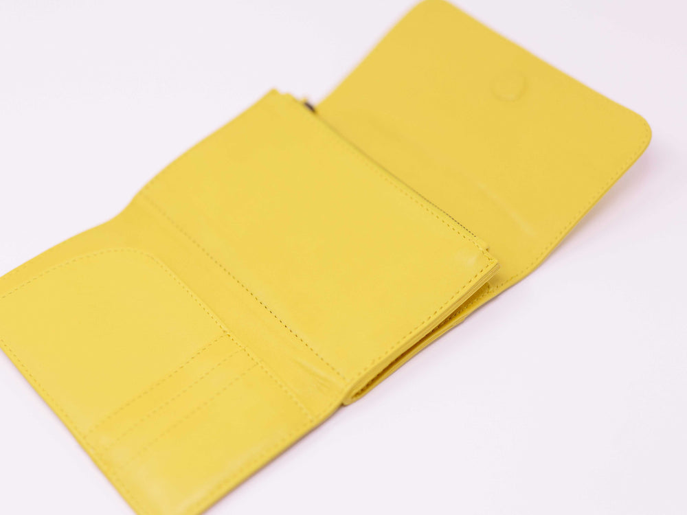 Travel wallet yellow passport wallet payton James inside of wallet