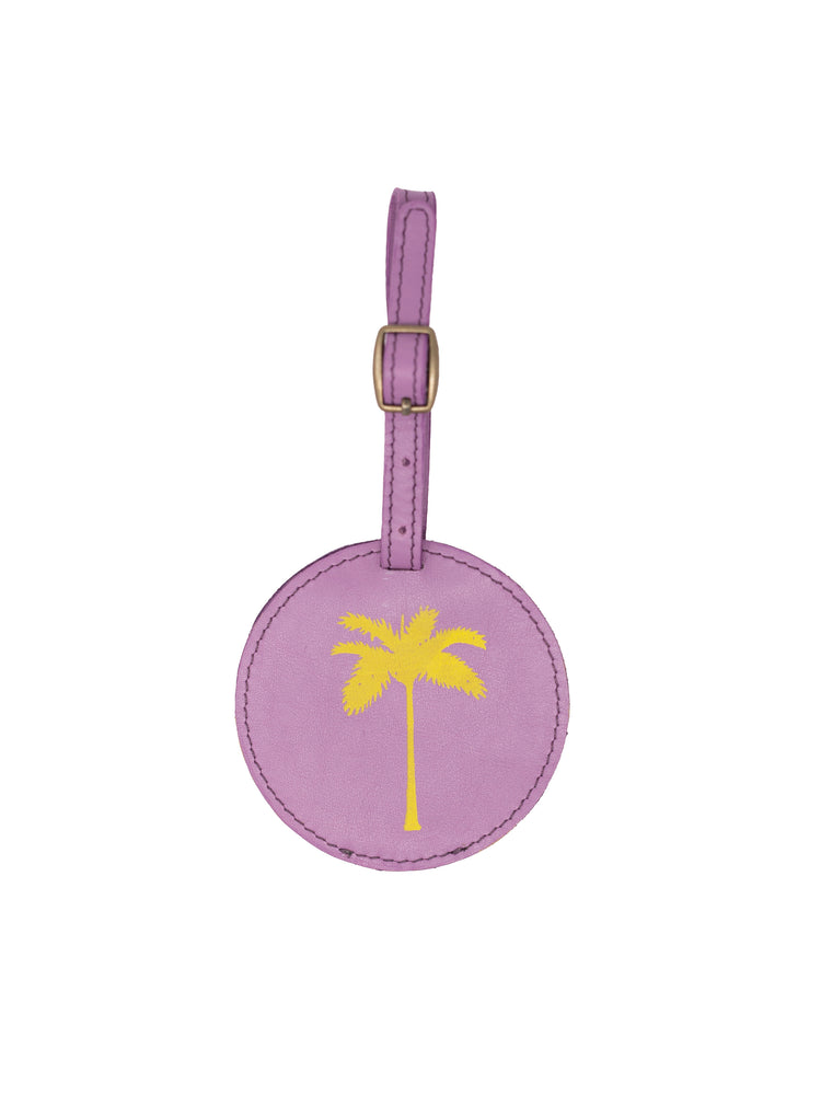 Palm Tree Luggage Tags- Lavender Leather luggage tags by payton james