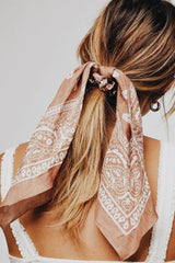 hair scarf in ponytail