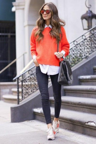 skinny jeans with oversized sweater outfit
