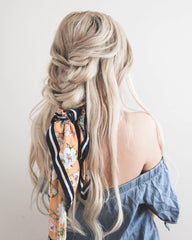 hair scarf in braid