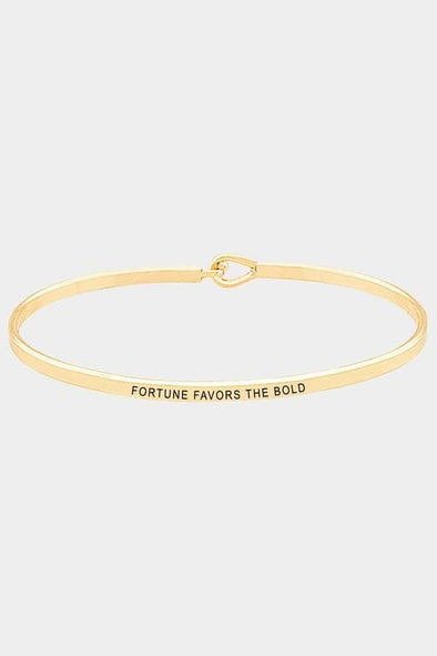 Fortune Favors The Bold Thin Hook Bracelet Gold Jewelry Scout and Poppy Fashion Boutique