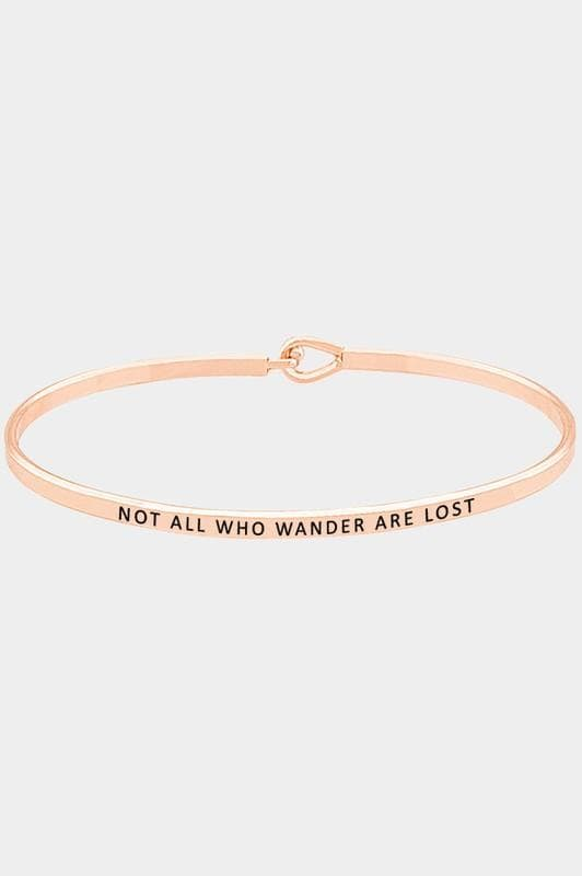 Not All Who Wonder Are Lost Thin Hook Bracelet Jewelry Scout and Poppy Fashion Boutique