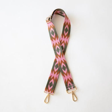 Pink Aztec shoulder strap