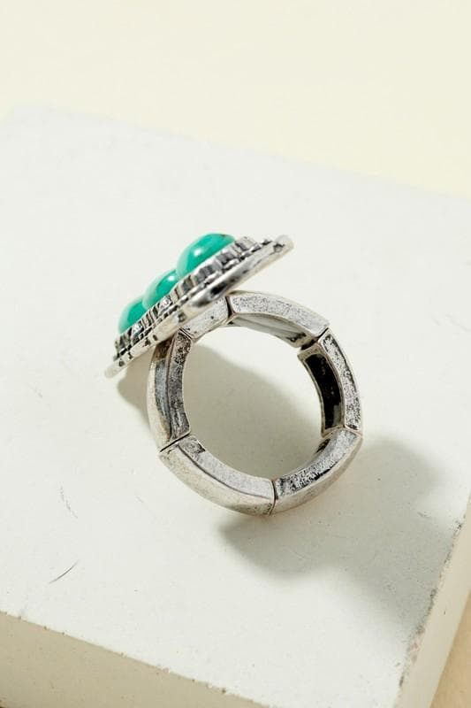 Triple turquoise ring Jewelry Scout and Poppy Fashion Boutique