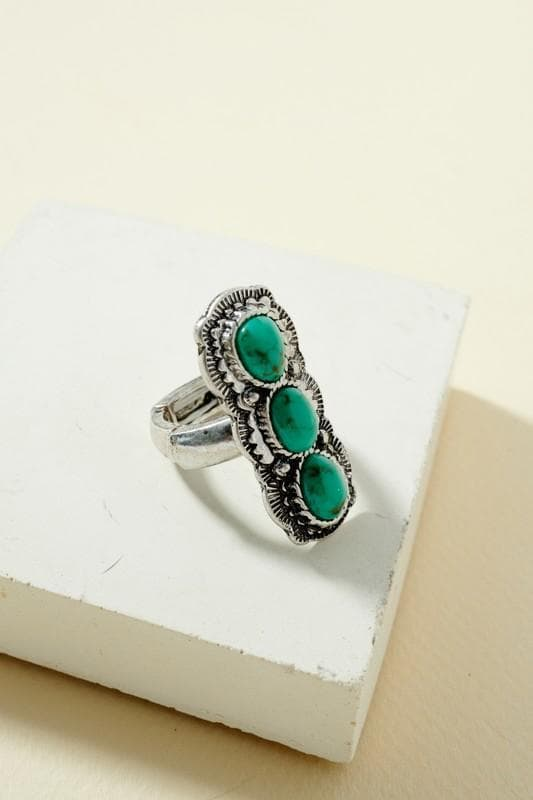 Triple turquoise ring Scout and Poppy Fashion Boutique