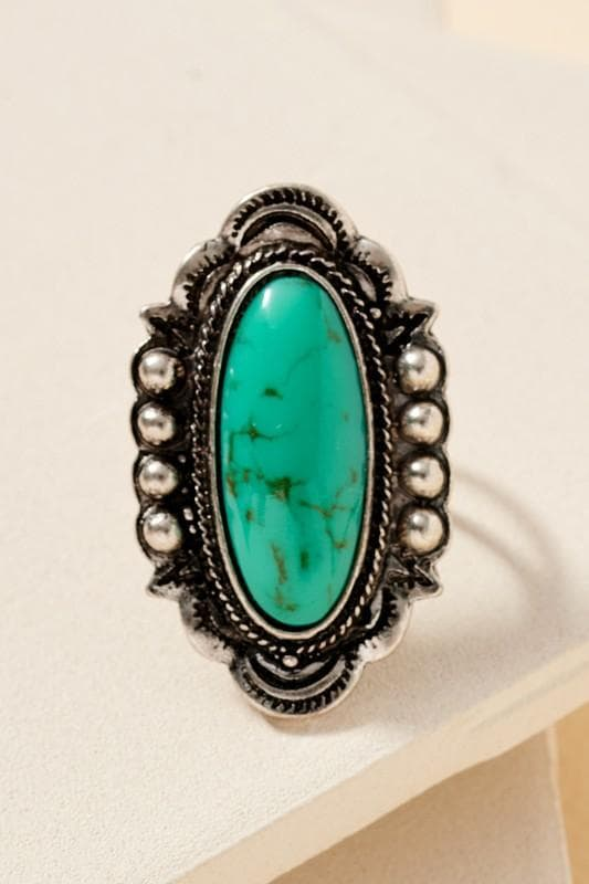 Women's Oval Turquoise Ring Jewelry Scout and Poppy Fashion Boutique