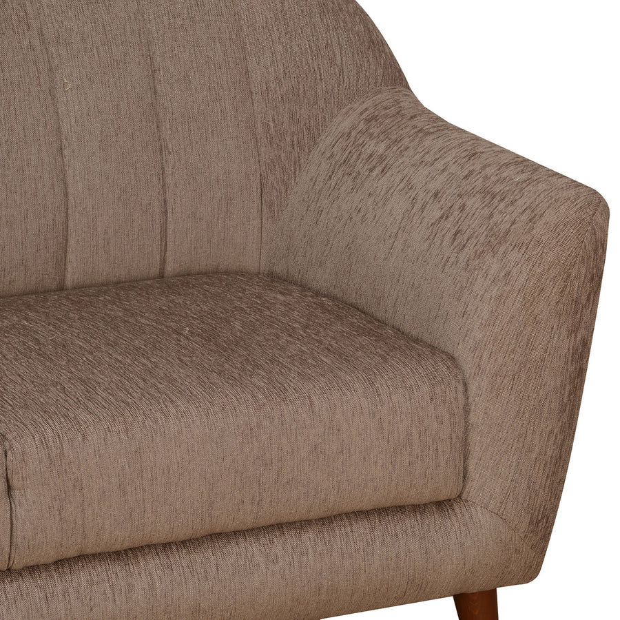 Nilkamal Antalya 3 Seater Sofa (Brown)