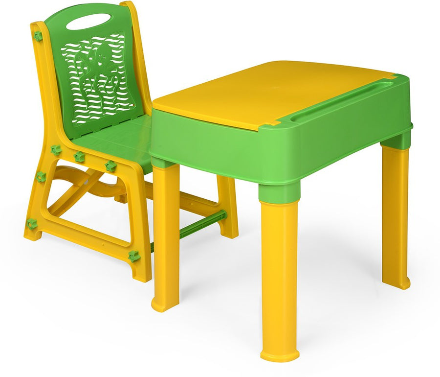 Nilkamal Apple Junior Study Set (Yellow and Green)