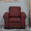 Nilkamal Array 1 Seater Bill Arm Sofa (Maroon)