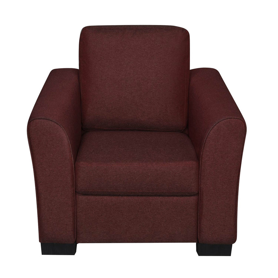 Nilkamal Array 1 Seater Mike Arm Sofa (Maroon)