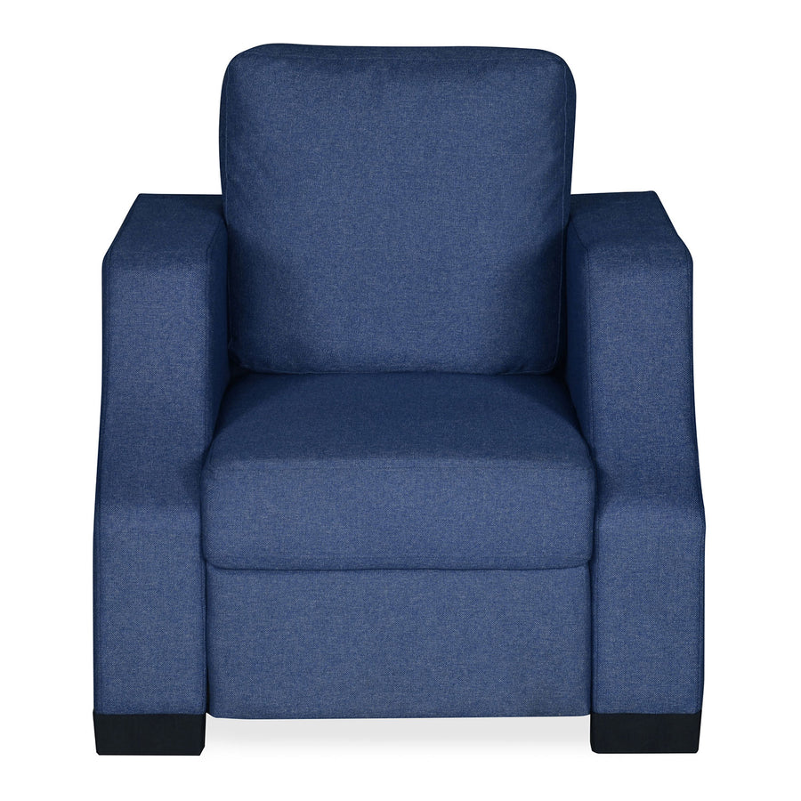 Nilkamal Array 1 Seater Rick Arm Sofa (Blue)