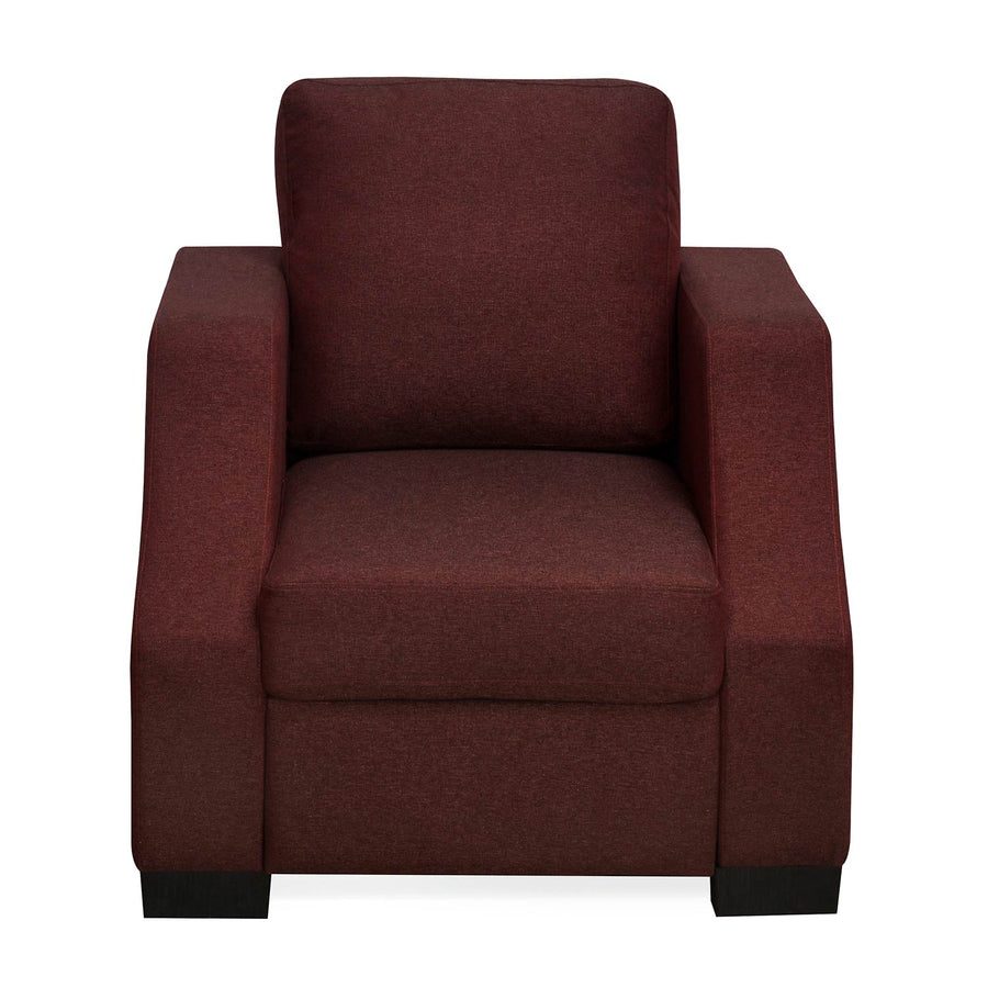 Nilkamal Array 1 Seater Rick Arm Sofa (Maroon)