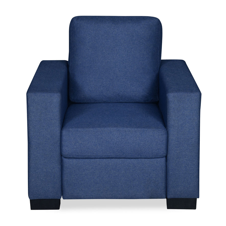 Nilkamal Array 1 Seater Ron Arm Sofa (Blue)