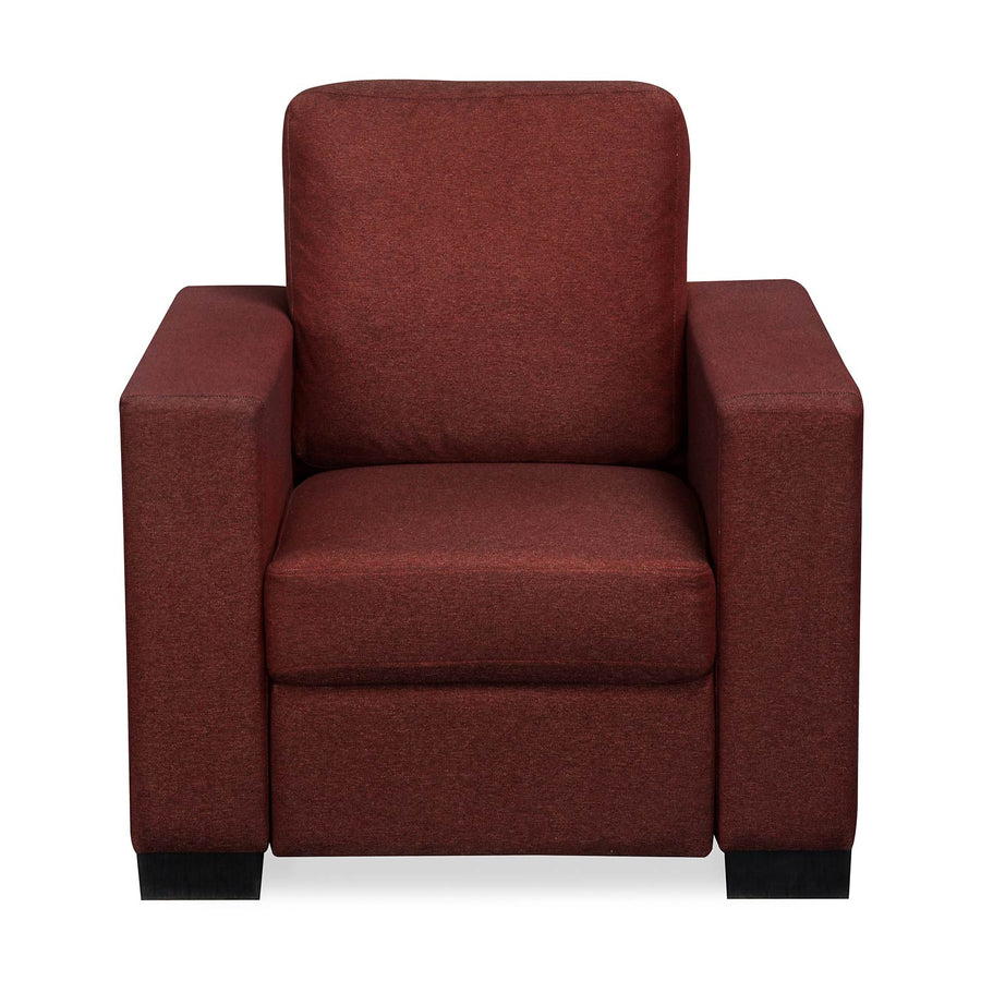 Nilkamal Array 1 Seater Ron Arm Sofa (Maroon)