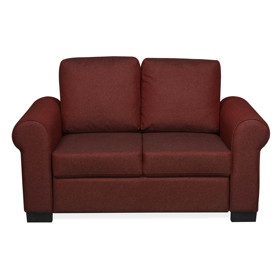 Nilkamal Array 2 Seater Bill Arm Sofa (Maroon)