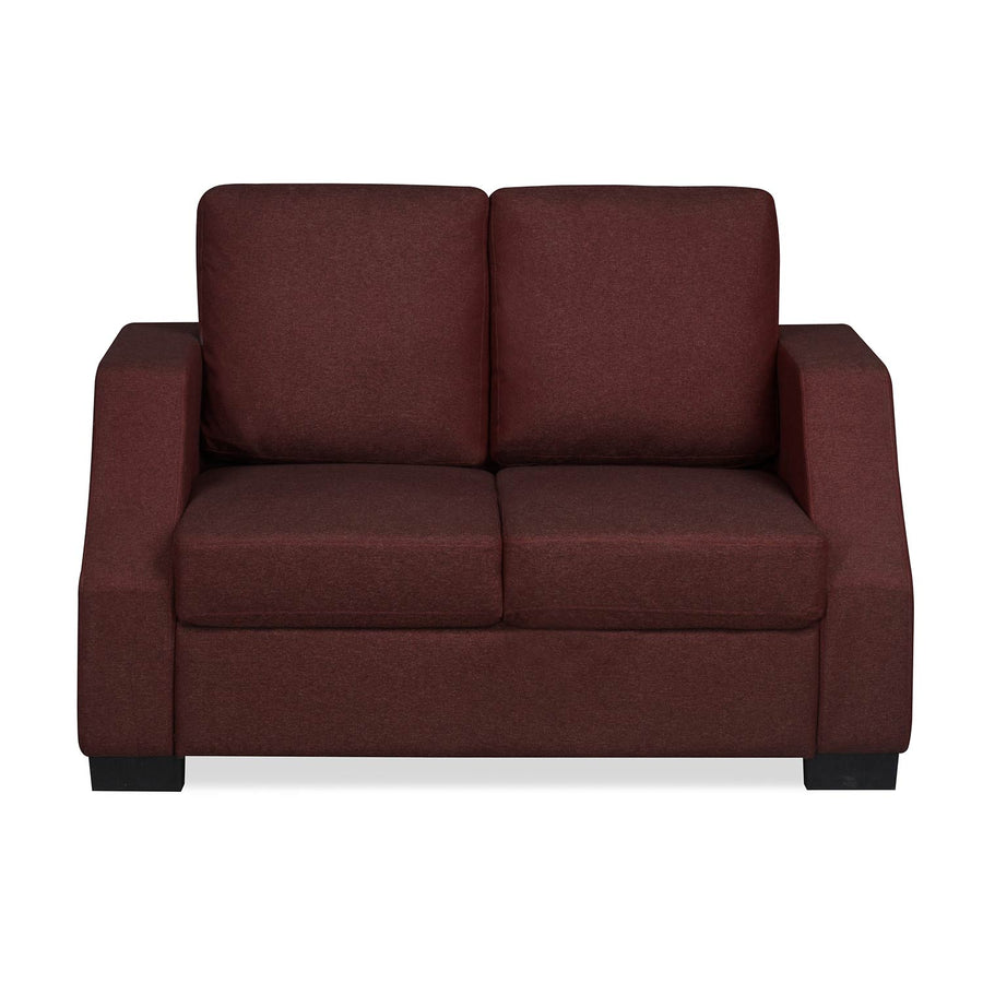 Nilkamal Array 2 Seater Rick Arm Sofa (Maroon)
