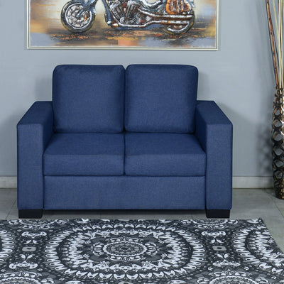 Nilkamal Array 2 Seater Ron Arm Sofa (Blue)