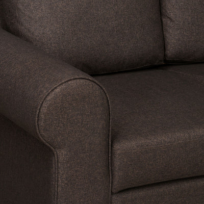 Nilkamal Array 3 Seater Bill Arm Sofa (Dark Brown)