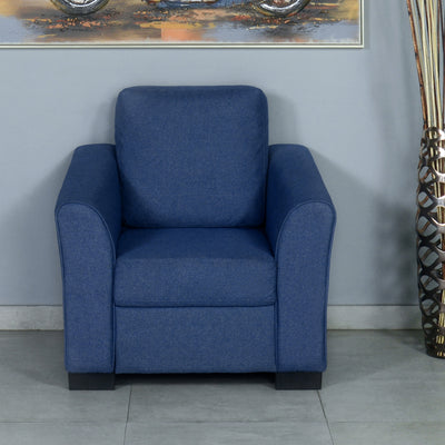 Nilkamal Array 1 Seater Mike Arm Sofa (Blue)