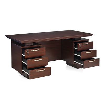 Nilkamal Aviator Office Table (Mahogany)