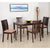 Nilkamal Berry 4 Seater Dining Table Set (Expresso)