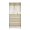 Nilkamal Betel 2 Door Mirror Wardrobe (Beige/Brown)