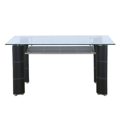 Nilkamal Bristan 6 Seater Dining Table (Black)
