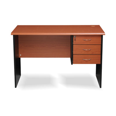 Nilkamal Milford Office Table (Cherry/Black)
