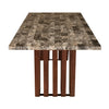 Nilkamal Capri 6 Seater Dining Table (Walnut)