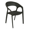 Nilkamal Club Chair (Charcoal Grey)