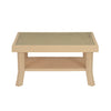 Nilkamal Center Table 2 Carv & Glass (Marble Beige)