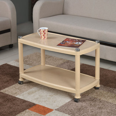 Nilkamal Center Table 5 (Marble Beige)