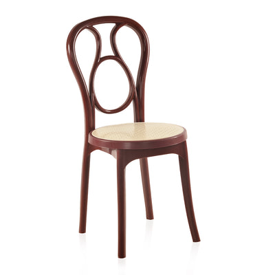 Nilkamal CHR 4041 Armless Chair (Maroon Cream)