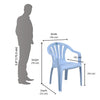 Nilkamal Mid Back Chair CHR2005 (Baby Blue)