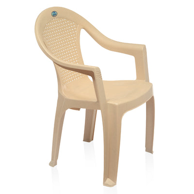 Nilkamal CHR 2051 Mid Back Chair With Arm (Marble Beige)