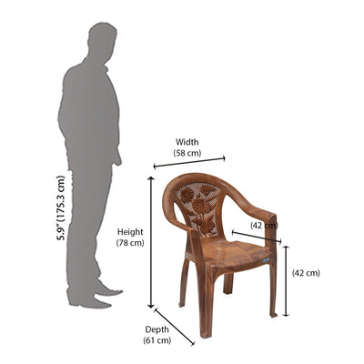 Nilkamal Mid Back Chair CHR2060 (Mango Wood)