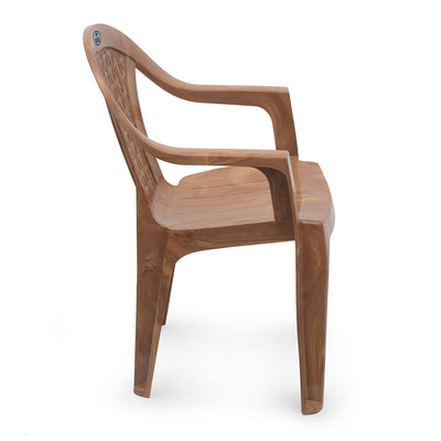 Nilkamal CHR 2165 Mid Back Chair With Arm (Pear Wood)