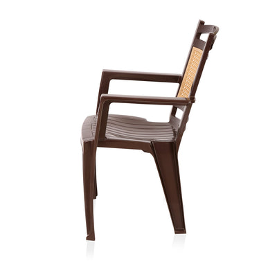 Nilkamal Premium Chair CHR2197  (Weather Brown and Biscuit)
