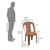 Nilkamal Armless Chair CHR 4032 (Pear Wood)
