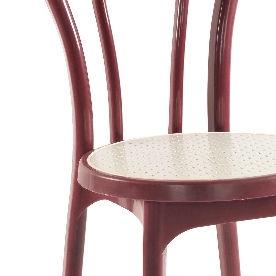 Nilkamal CHR 4040 Without Cusion Armless Chair (Maroon Cream)